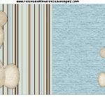 Bandeirinha Sanduiche Ursinho Fofo Azul e Marrom: