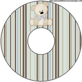 CD DVD Ursinho Fofo Azul e Marrom: