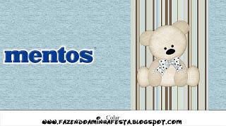Mentos Ursinho Fofo Azul e Marrom: