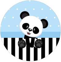 Kit Festa Panda Azul Menino