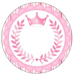 Rótulo-Latinhas-e-Toppers-para-Doces-Coroa-de-Princesa-Rosa-Floral