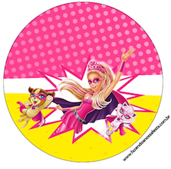 Rótulo-para-Tubetes-Barbie-Super-Princesa-Rosa