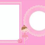 Bailarina Rosa – Mini Kit com molduras para convites, rótulos para guloseimas, lembrancinhas e imagens!