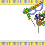 Baile de Máscaras para Carnaval – Kit Completo com molduras para convites, rótulos para guloseimas, lembrancinhas e imagens!