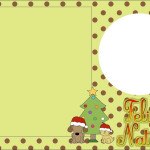 Natal Gato e Cachorro Poá Marrom e Verde – Kit Completo com molduras para convites, rótulos para guloseimas, lembrancinhas e imagens!