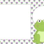Sapinho – Kit Completo com molduras para convites, rótulos para guloseimas, lembrancinhas e imagens!