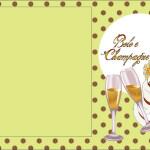 Bolo e Champagne – Kit Completo com molduras para convites, rótulos para guloseimas, lembrancinhas e imagens!