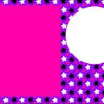 Estrelas Roxo, Rosa e Preto – Kit Completo com molduras para convites, rótulos para guloseimas, lembrancinhas e imagens!