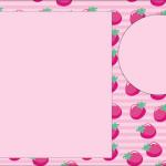 Morangos – Kit Completo com molduras para convites, rótulos para guloseimas, lembrancinhas e imagens!