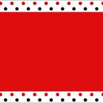 Poá Vermelho e Preto – Kit Completo com molduras para convites, rótulos para guloseimas, lembrancinhas e imagens!