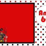 Anos 60 – Kit Completo com molduras para convites, rótulos para guloseimas, lembrancinhas e imagens!