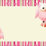 Coruja Rosa e Bege – Kit Completo com molduras para convites, rótulos para guloseimas, lembrancinhas e imagens!