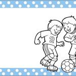 Futebol Poá Azul – Kit Completo com molduras para convites, rótulos para guloseimas, lembrancinhas e imagens!