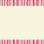 Listras Rosa e Bege – Kit Completo com molduras para convites, rótulos para guloseimas, lembrancinhas e imagens!