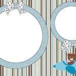 Ursinho Aviador – Kit Completo com molduras para convites, rótulos para guloseimas, lembrancinhas e imagens!
