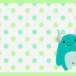 Monstrinhos – Mini Kit com molduras para convites, rótulos para guloseimas, lembrancinhas e imagens!