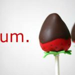 Pops de Morango com Chocolate!