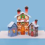 Vila de Natal 3D com Personagens para Imprimir e Montar!