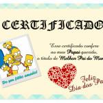 Certificado para o Dia dos Pais!