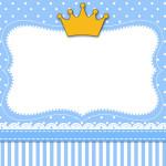 Coroa Príncipe – Kit Completo com molduras para convites, rótulos para guloseimas, lembrancinhas e imagens!