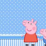Moldura Convite e Cartão George Pig (Peppa Pig):