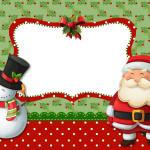 Natal Papai Noel e Boneco de Neve – Kit Completo com molduras para convites, rótulos para guloseimas, lembrancinhas e imagens!