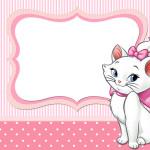 Moldura Convite e Cartão Gatinha Marie (Disney):