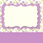 Floral Lilás – Kit Completo com molduras para convites, rótulos para guloseimas, lembrancinhas e imagens!
