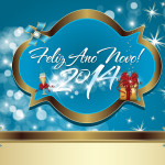 Ano Novo Azul e Dourado – Kit Completo com molduras para convites, rótulos para guloseimas, lembrancinhas e imagens!