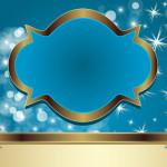 Azul e Dourado – Kit Completo com molduras para convites, rótulos para guloseimas, lembrancinhas e imagens!