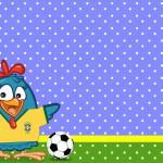 Convite Moldura e Cartão Galinha Pintadinha na Copa: