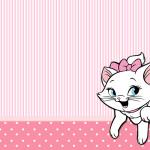 Convite Moldura e Cartão Gatinha Marie (Disney):