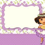 Dora Aventureira Fofa – Kit Completo com molduras para convites, rótulos para guloseimas, lembrancinhas e imagens!