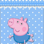 Rótulo Garrafas George Pig (Peppa Pig):