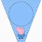 Bandeirinha Varalzinho George Pig (Peppa Pig):