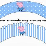 Saias Wrappers para Cupcakes George Pig (Peppa Pig):