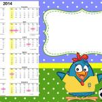 Convite Calendário 2014 Galinha Pintadinha na Copa: