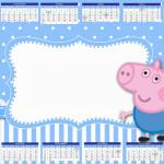 Convite Calendário 2014 George Pig (Peppa Pig):