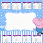 Convite Calendário 2013 George Pig (Peppa Pig):