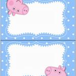 Cartão Agradecimento de Mesa George Pig (Peppa Pig):