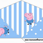 Cone Guloseimas 4 lados George Pig (Peppa Pig):