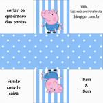 Convite Caixa Fundo George Pig (Peppa Pig):