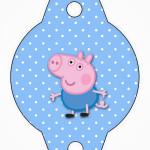Enfeite Canudinho George Pig (Peppa Pig):