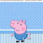 Molde Quadrado George Pig (Peppa Pig):