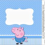 Rótulo Rolinho de Papel Higiênico George Pig (Peppa Pig):