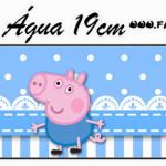 Rótulo Água George Pig (Peppa Pig):