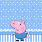 Rótulo Bolinha de Sabão George Pig (Peppa Pig):