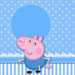 Rótulo Lata de Leite George Pig (Peppa Pig):