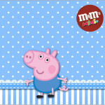 Rótulo Mini M&M George Pig (Peppa Pig):