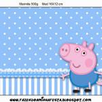 Rótulo Marmita Grande George Pig (Peppa Pig):